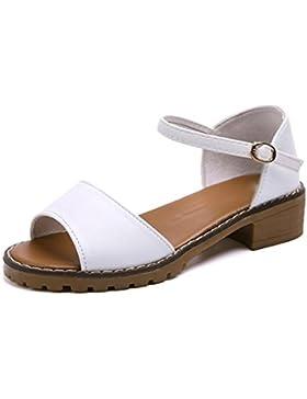 estudiantes verano Mate sandalias pendiente con zapatos planos Colegio viento sandalias de la cabeza de pescado...