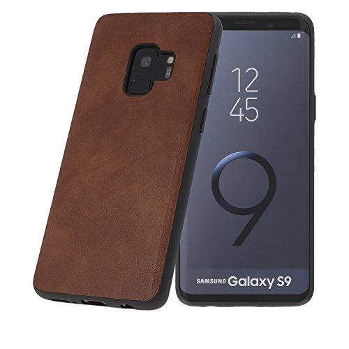 PULSARplus Handyhülle kompatibel mit Samsung Galaxy S9 Hülle Schutzhülle Dünn Case Cover, Unterstützt kabelloses Laden (Qi), Handy Hülle Vintage Braun