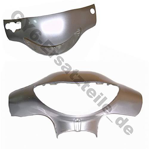 Housse de protection pour rétroviseur en métal argenté (B-WARE), par exemple pour REX RS 400 / RS 460 / AGM GMX et de construction SHENKE JONWAY JINAN QINGQI
