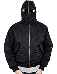 Mens Location Galactic Airmans Waterproof Goggle Jacket Military Hooded Coat
