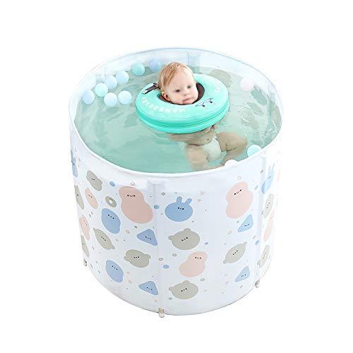 LSX LIUSIXIAO-Schwimmbad Baby Schwimmbad Hause Baby schwimmeimer große klappbare einstellbare Legierung Halterung Junge Kinder 0-3 Jahre alt Schwimmbad Thermostat Wasser Spielzeug badewanne OYO -