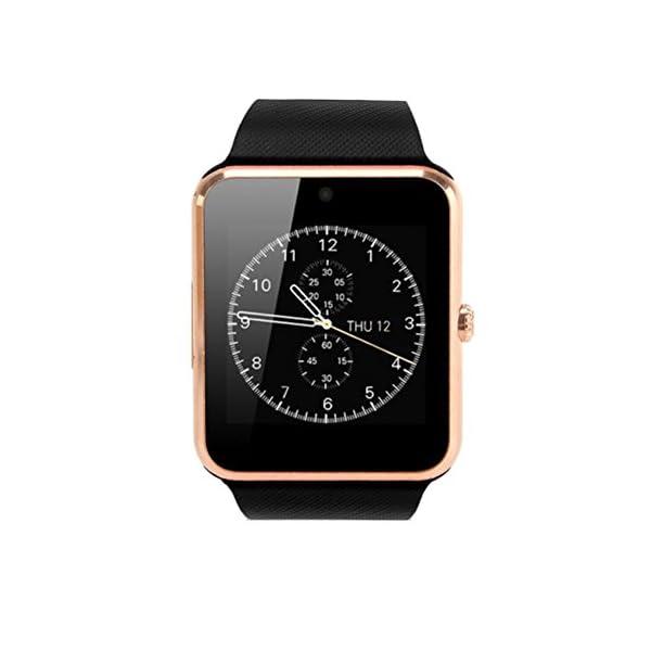 GT08 Bluetooth SmartWatch SmartWatch con Ranura para Tarjeta SIM y la cámara de 2.0 megapíxeles para el iPhone/Samsung y… 1