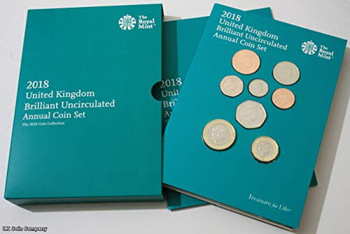 (Uk Coin Company The Royal Mint Jahresmünzenset für 2018 Großbritannien)