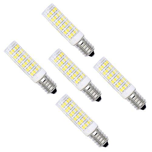 5 Stück 7W E14 LED Lampe Leuchtmittel Glühbirne Energiesparlampe Halogenersatz Leuchte mit 76 SMD 2838 ,Kaltweiß 6000K 27x2835 SMD,500 Lumen,360 Abstrahlwinkel AC 220-240V