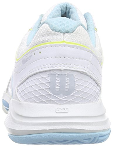 Wilson  NVISION WOMAN, Baskets de tennis femme Multicolore - Mehrfarbig (White / White / Island Turq)