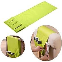 Generic verde: sofá brazo resto mando a distancia soporte bolsa de mesa TV Control REMOTO organizador 4bolsillos para mandos a distancia teléfonos móviles bolsa de almacenamiento