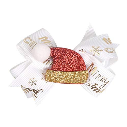Arichtop Weihnachtsbaum Haar Bang Clip Baby-Kind-Kleinkind-Schneemann-Hairpin-Kind-Mädchen Sankt-Haarschmuck Kopfschmuck