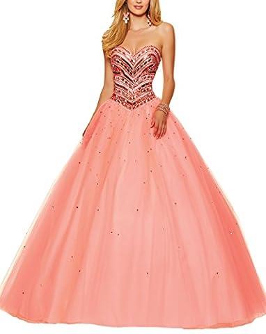 Bridal_Mall - Robe - Évasée - Femme - Rose - 46