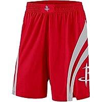 BUFJ Pantalones cortos de baloncesto para hombre y mujer, pantalones cortos de cohetes, pantalones cortos de edición coleccionista, transpirables, trajes de competición rojo-S