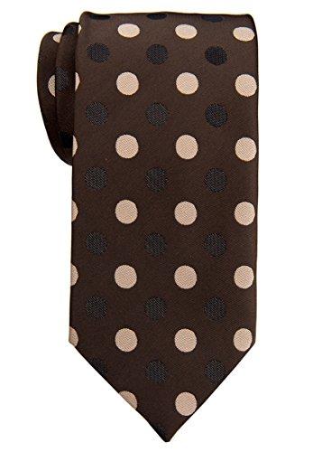 Retreez - Cravate - À Pois - Homme dunkelbraun mit braun punkten