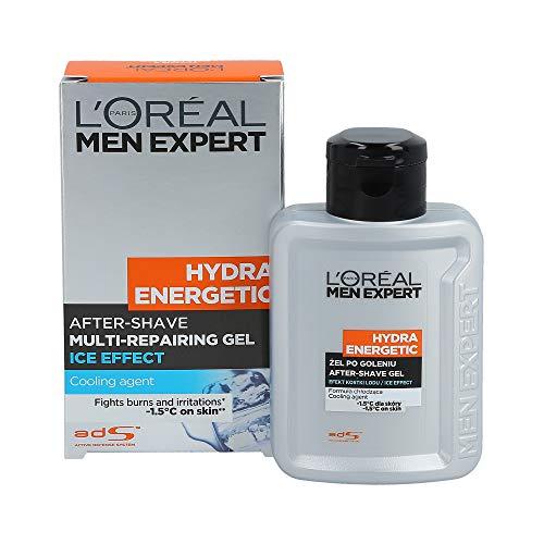 L\'Oreal Paris Men Expert Hydra Energetic After-Shave Multi-Repairing Gel Ice Effect, 1er Pack (1 x 100 ml)