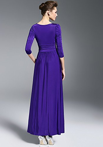 Medeshe - Robe - Taille empire - Manches Courtes - Femme Violet Cadbury