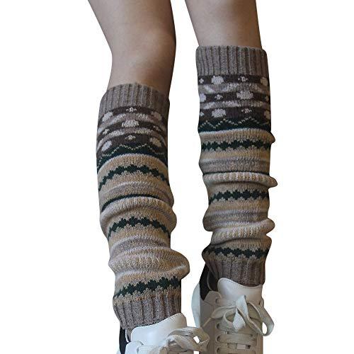 (TPulling Bunte Socken Damen Witzige Socken Weihnachten Deko Schneemann Rentier Frauen-Bunte Knie Stricken Lange Socken-Winter-Socken langes warmes Legging)
