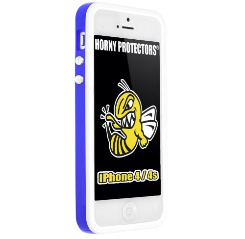 HORNY PROTECTORS-Cover Bumper con bottoni in metallo per Apple iPhone 4/4S
