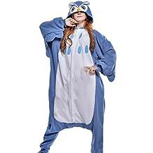 Fandecie Grenouillère unisexe pour adulte Animal Kugurumi comme déguisement ou pyjama pour taille 160-175 cm - Hibou