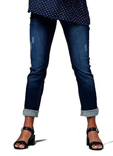 ESPRIT Maternity Damen Umstandsjeans Pants Denim OTB Straight (W30/L32 (Herstellergröße: 38/32), Darkwash Denim) - Pocket Maternity Jeans Boot Cut