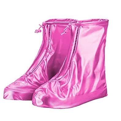 Malkoha Unisex Footwear Rain Shoe cover with Sturdy Zip Closure & Elastic Stopper- 1 Pair