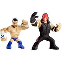 WWE Rumblers CM Punk and Kane Action Figure, 2 unidades