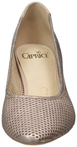 Caprice 22500, Scarpe con Tacco Donna Rosa (Rose Metallic)