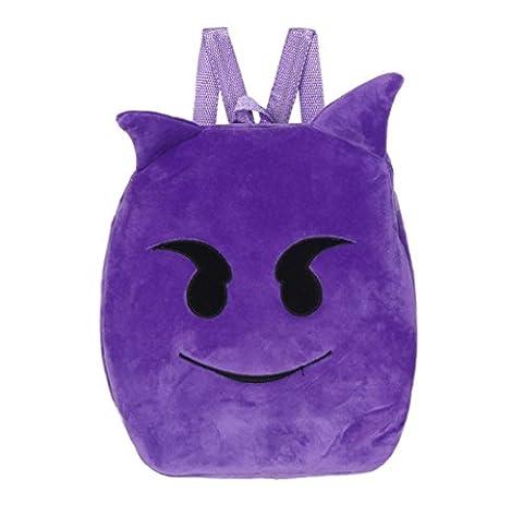 Covermason Baby Kids Shoulder School Bag Lovely Emoji Emoticon Handbag Backpack Satchel Rucksack (Demon)