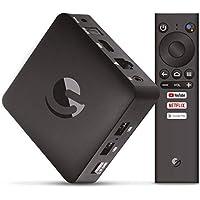 Engel EN1015K, Android TV Box 4K UHD, Asistente de Google Chromecast, Smart TV Box