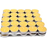 Apollo Wax Tea Light Candle (Yellow), Set Of 50, 3 To 3.5Hours Burn Time)