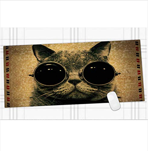 Katze Mit Brille Hohe Qualität Full Art Verrückte Grund Land Brettspiel Karte Magie Spiel Dicke 30 * 80 * 0,2 Cm