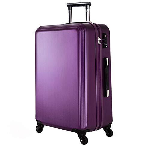 ZHENYANG Trolley antigraffio trolley per il trasporto di valigie di grandi dimensioni per uomini e donne (Color : Purple, Size : 28 inches)