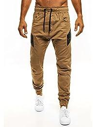 OZONEE Hombre Jogger Chinos Jogg Pantalón Holgado Pantalón Chándal Fitness ATHLETIC 706 - algodón, Camello claro, 100% algodón 100% algodón. \n\t\t\t\t, hombre, S