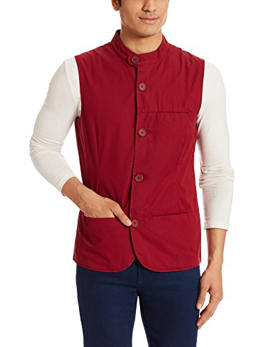 United Colors Of Benetton Men's Solid Cotton Waistcoats