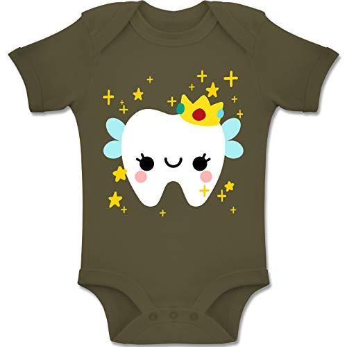 Shirtracer Karneval und Fasching Baby - Süßes Zahnfee Kostüm - 6-12 Monate - Olivgrün - BZ10 - Baby Body Kurzarm Jungen Mädchen