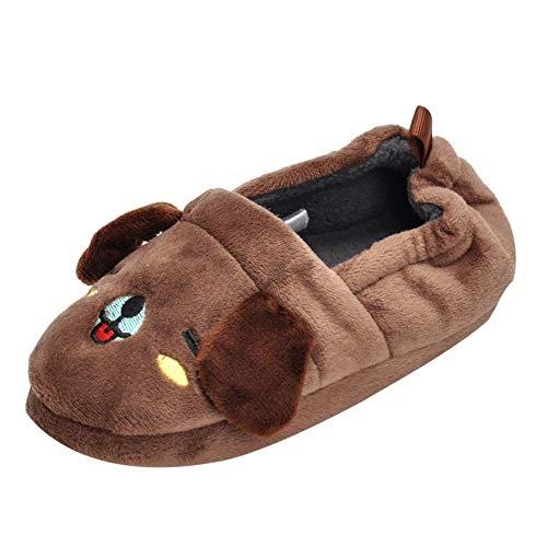 Säugling Kind (2.5T-5.5T) Quaan Winter Jungen Mädchen Karikatur Tier Innen Warm Slipper Weich Sohle, einzig, alleinig Beiläufig Schuhe Warm Niedlich atmungsaktiv rutschfest Schuhe