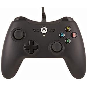 Amazon Basics – Controller für die Xbox One, kabelgebunden, Schwarz