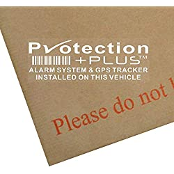 Platinum Place Lot de 5Stickers dissuasifs système d'Alarme et Suivi GPS 87x 30mm