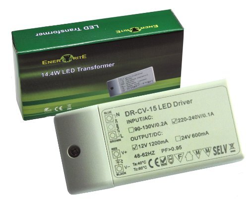 Energybrite 14.4w dimmable 240v-dc12v 1.2a transformateur/driver pour mr16 mr11 gu5.3 led ampoule/bandes, led driver power supply transformer, offres spéciales disponibles