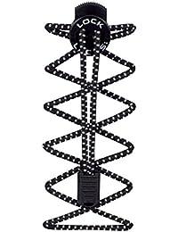 Nathan Lock laces-black, un tamaño, color blanco, tamaño talla única