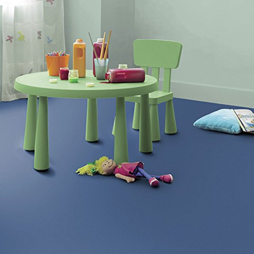 livingfloor® PVC Bodenbelag Fotohintergrund Einfarbig Uni Denim Blau 2m Breite, Länge variabel Meterware, Größe:0.20x0.20 m | Muster -