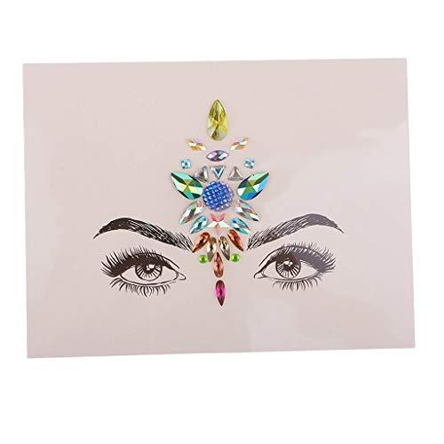 P Prettyia Tattoo Selbstklebende Strassband Glitzband Acrylic Rhinestone Diamant Dekoband für DIY Handwerk Dekoration Sammelalben, Bilderrahmen, Handys - Stil 1, 3mm - ()