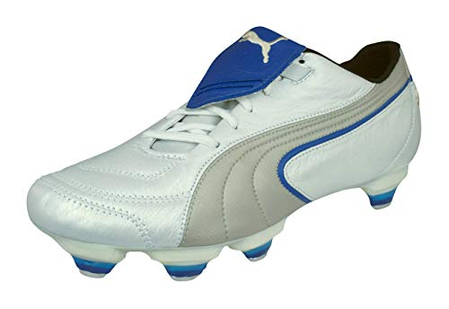 Puma King Exec SG Mens Leather Football Boots Cleats-White-7 5
