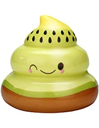 Fossrn Squishys Kawaii Baratos Fruta Poo Squishy Slow Rising Scented Stress Relief Toy Juguetes AntiestréS