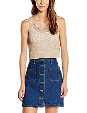 Only Onlsally S/L Crop Knt, Tank Top Para Mujer