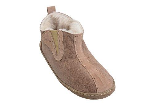 Herren Damen Lammfell Hausschuhe echtleder Gefuttert Wolle Pantoffeln Schlappen Schuhe Beige / Weiß