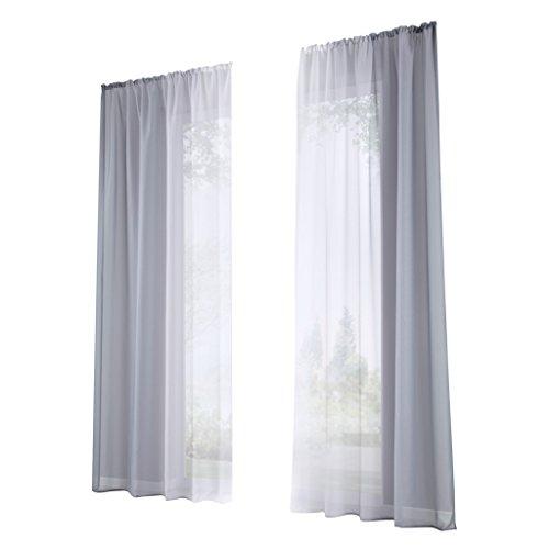 Non-brand sharplace tenda voile drappo pannello da 2 pcs tende classiche drappeggi tenda traspirante - grigio-xl