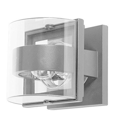 Eco Light Moderne Außenwandleuchte Delta für stimmungsvolles Licht, halbrund, E27 Fassung, IP54 1838 S-SI