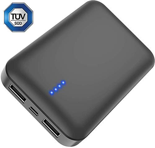 Batterie Externe 10000mAh, Luvfun Power Bank Chargeur Portable 2 Ports USB Portable Chargeur de Batterie pour Tous Les Smartphones- Noir