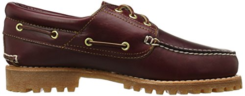 Timberland Trad Hs 3 Eye Lug, Chaussures basses homme Marron foncé (Burgundy Pull-Up)
