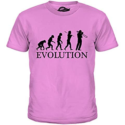CandyMix Trombone Evoluzione Umana Unisex Bambino Ragazzi/Ragazze T-Shirt