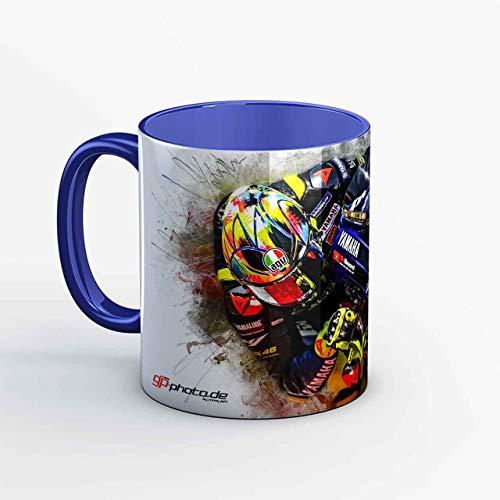 GP-Tasse 68- Valentino Rossi - Turn Right 2019 blau
