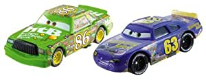 Disney – Cars – Piston Cup – Chick Hicks & Transberry juice No. 63 – 2 Véhicules Die Cast 5 cm