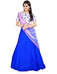 Shree Rang Creation Blue Taffeta Silk Designer Lehenga Choli(AFL-13_Blue_Free SIze)